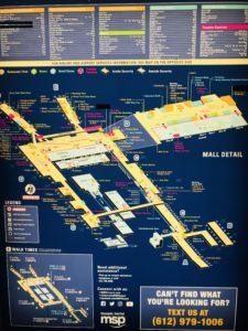 ミネアポリス空港地図