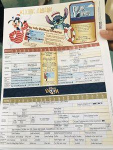 ディズニークルーズ 日程表 1日目