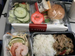 デルタ航空 機内食