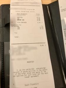 ケープメイカフェ 支払い 金額