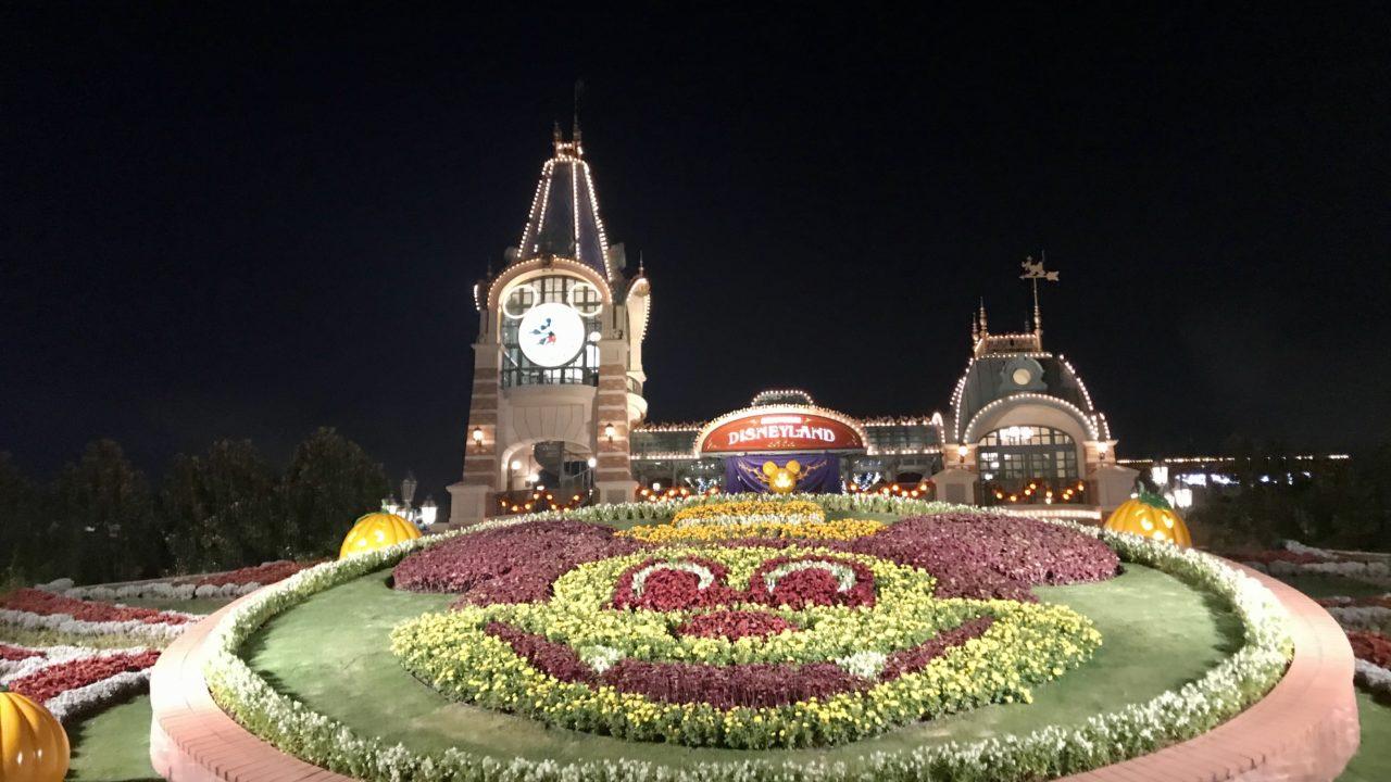 上海ディズニー 花壇