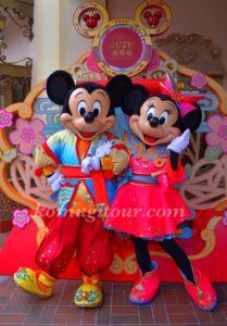 上海ディズニー ミッキー 旧正月2020