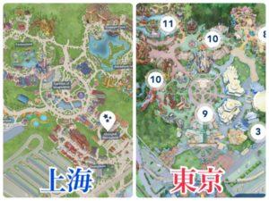 上海ディズニー 東京ディズニー 比較
